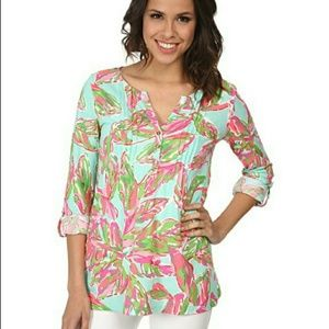*Lily Pulitzer Dorothy Bright Floral Long Sleeve*